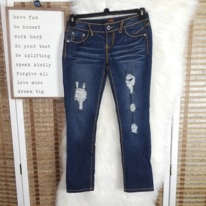 Almost Famous Skinny Jeans Distressed sz5